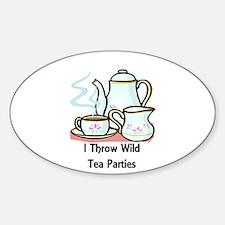 Wild Tea Parties Oval Decal