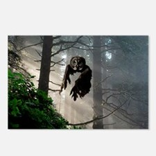 Owl flying out of forest Postcards (Package of 8)