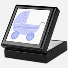 Blue Stroller. Keepsake Box