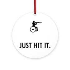 Wheelchair-Shooting-ABQ1 Round Ornament