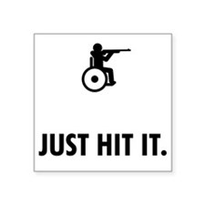 "Wheelchair-Shooting-ABQ1 Square Sticker 3"" x 3"""