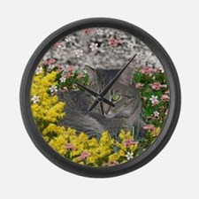Mimosa in Mimosa Flowers Large Wall Clock