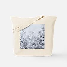 Snowy Owl in Blizzard Tote Bag