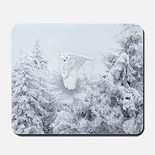 Snowy Owl in Blizzard Mousepad