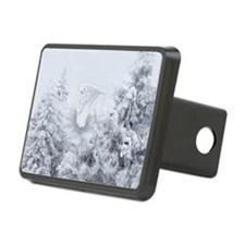 Snowy Owl in Blizzard Hitch Cover