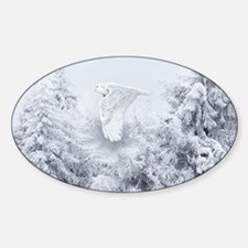 Snowy Owl in Blizzard Decal