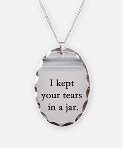 Tears in a Jar Necklace Oval Charm