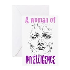 A woman of INTELLIGENCE Greeting Card