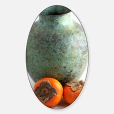 Persimmon with vase Sticker (Oval)