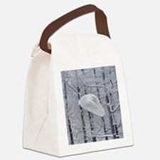 Snowy Owl, Praying Wings Canvas Lunch Bag