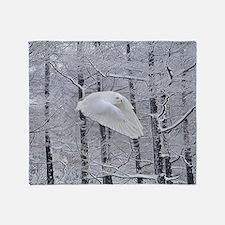 Snowy Owl, Praying Wings Throw Blanket