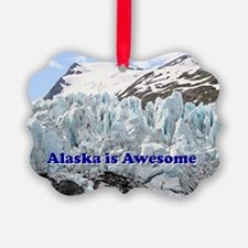 Alaska is Awesome: Portage Glacie Ornament