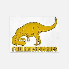 T-rex Hares Pushups 5'x7'Area Rug