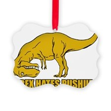 T-rex Hares Pushups Ornament