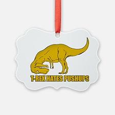 T-rex Hares Pushups Ornament