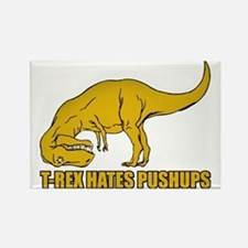 T-rex Hares Pushups Rectangle Magnet