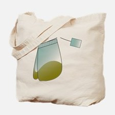 Tea Lovers Heart Tea Bag Tote Bag