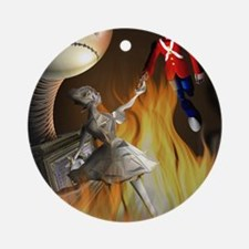 The steadfast tin soldier Round Ornament
