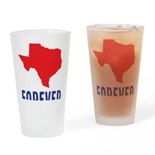 Texas Forever Drinking Glass