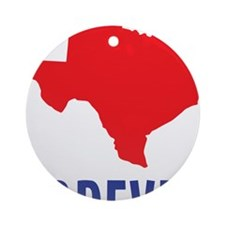 Texas Forever Round Ornament