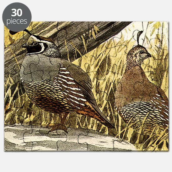 Quail in the grass Puzzle