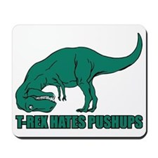 T-rex Hares Pushups Mousepad
