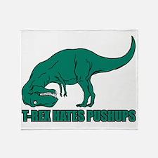 T-rex Hares Pushups Throw Blanket