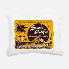 South Pacific Tiki Bar Rectangular Canvas Pillow
