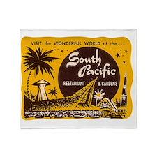 South Pacific Tiki Bar Throw Blanket
