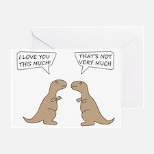 T-Rex Love.. Greeting Card