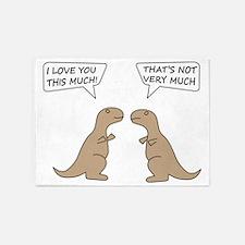 T-Rex Love.. 5'x7'Area Rug