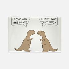 T-Rex Love.. Rectangle Magnet