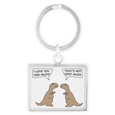 I Love You This Much Landscape Keychain