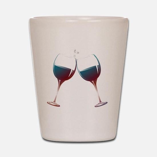 Clinking Wine Glasses Shot Glass