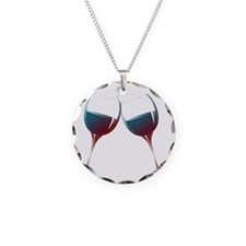 Clinking Wine Glasses Necklace