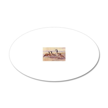 Canada Geese 20x12 Oval Wall Decal