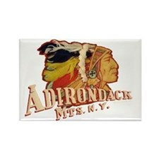 Adirondack Indian Rectangle Magnet