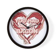 You had me at bacon Wall Clock