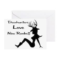 Deerhunters Love Nice Racks Greeting Card