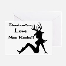 Deerhunters Love Nice Racks Greeting Card
