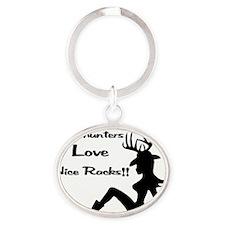 Deerhunters Love Nice Racks Oval Keychain