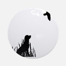 Duck Hunt Round Ornament
