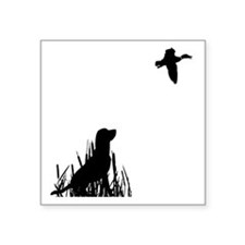 "Duck Hunt Square Sticker 3"" x 3"""