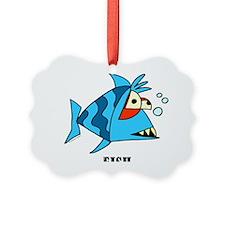 Cartoon Fish by Lorenzo Ornament