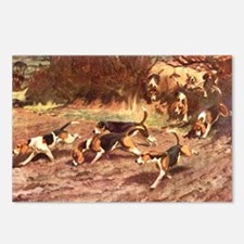 Pack of Hounds After the  Postcards (Package of 8)
