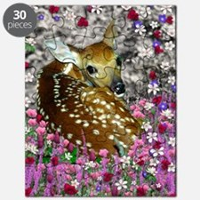 Bambina the Fawn in Flowers II Puzzle