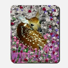 Bambina the Fawn in Flowers II Mousepad