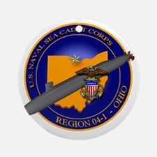 Naval Sea Cadet Corps - Region 4-1 Round Ornament