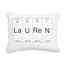 Lauren periodic table of Rectangular Canvas Pillow