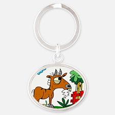 Cartoon Goat by Lorenzo Oval Keychain
